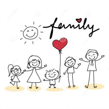familia-feliz-de-la-historieta-del-dibujo-de-la-mano-38317592